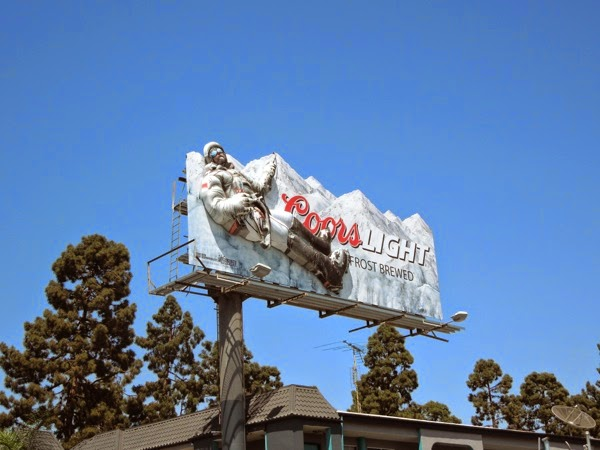 Coors Light 3D mountain climber billboard
