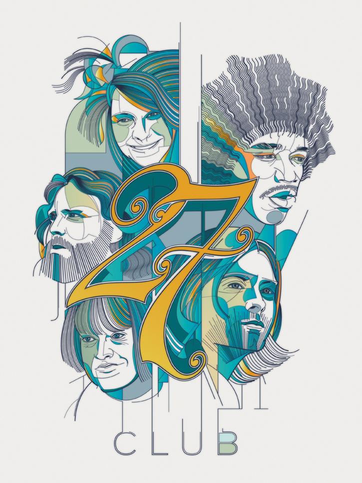 César Moreno - 27 club: Janis Joplin, Jimi Hendrix, Jim Morrison, Kurt Cobain, Brian Jones