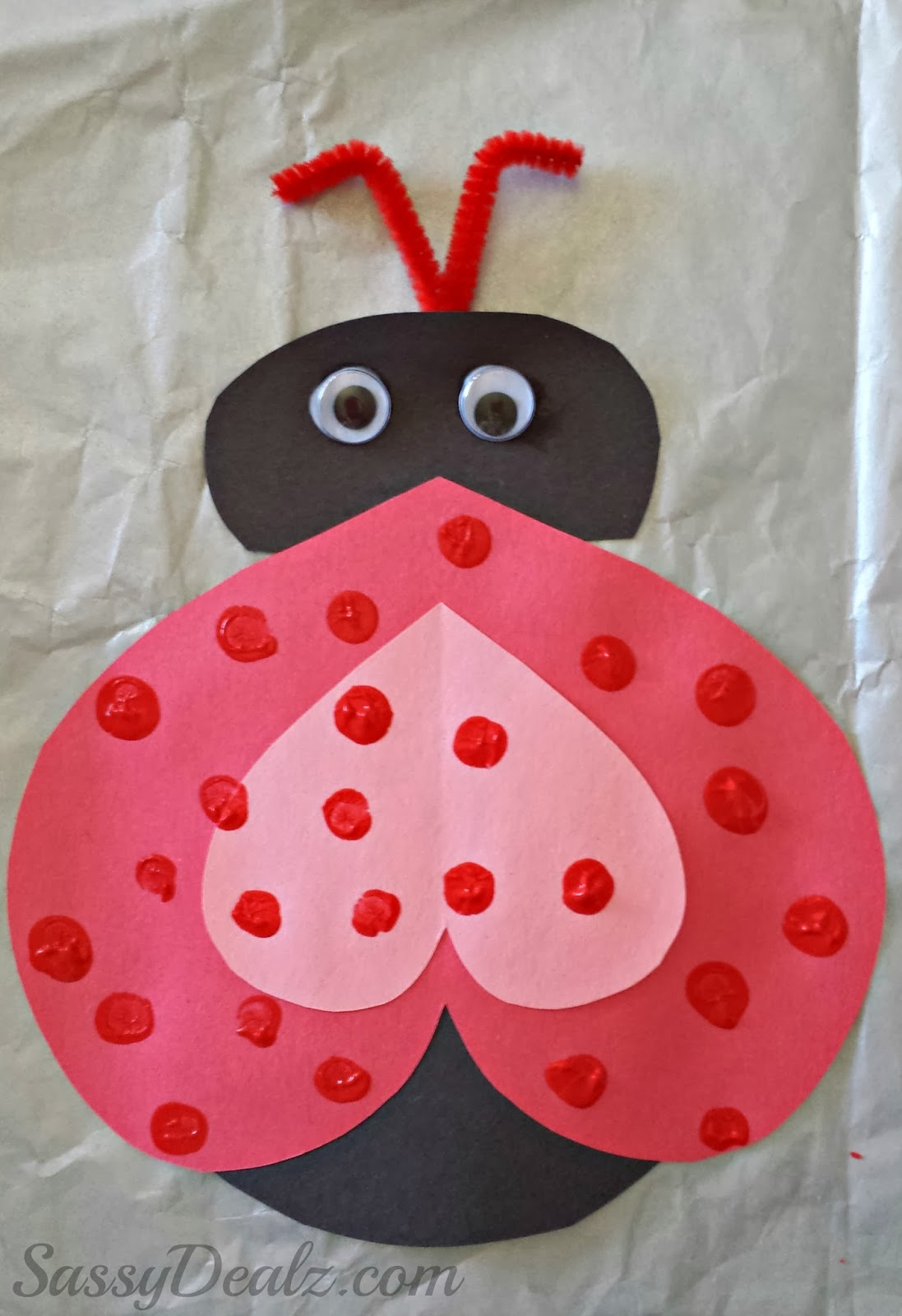 Valentines Day Craft Ideas For Kids Part - 18: Valentines Day Ladybug Craft