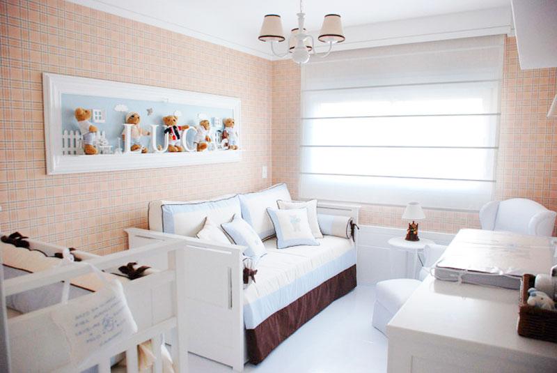 Decoração de quarto de bebê em tons de rosa