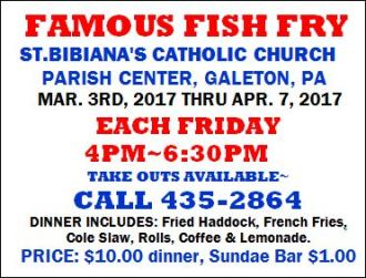 3-3 Famous Fish Fry, St. Bibiana's, Galeton