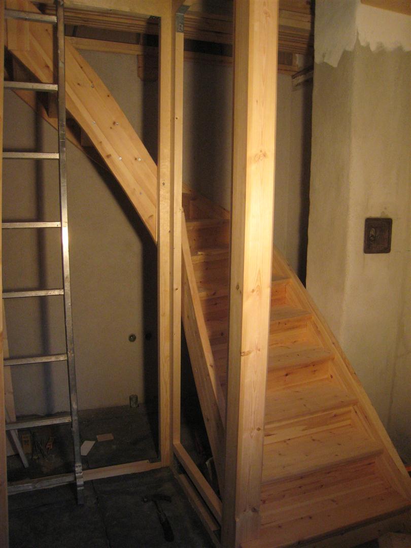 Mariehem i skåne: trappan till övervåningen