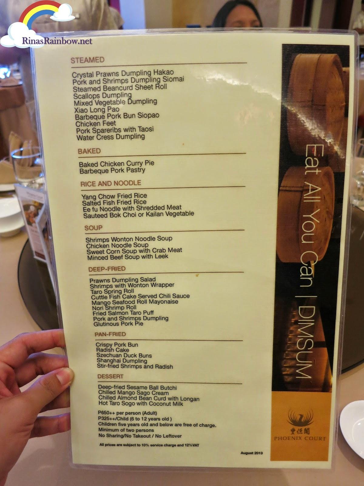phoenix dimsum menu