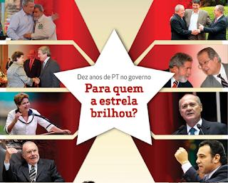 Imagem com os aliados do governo Lula(Bush, Sarney, Maulf, Renan e cia)