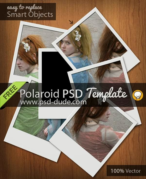 free psd, polaroid, photoshop, free photo frame, digital photo frame, frame borders