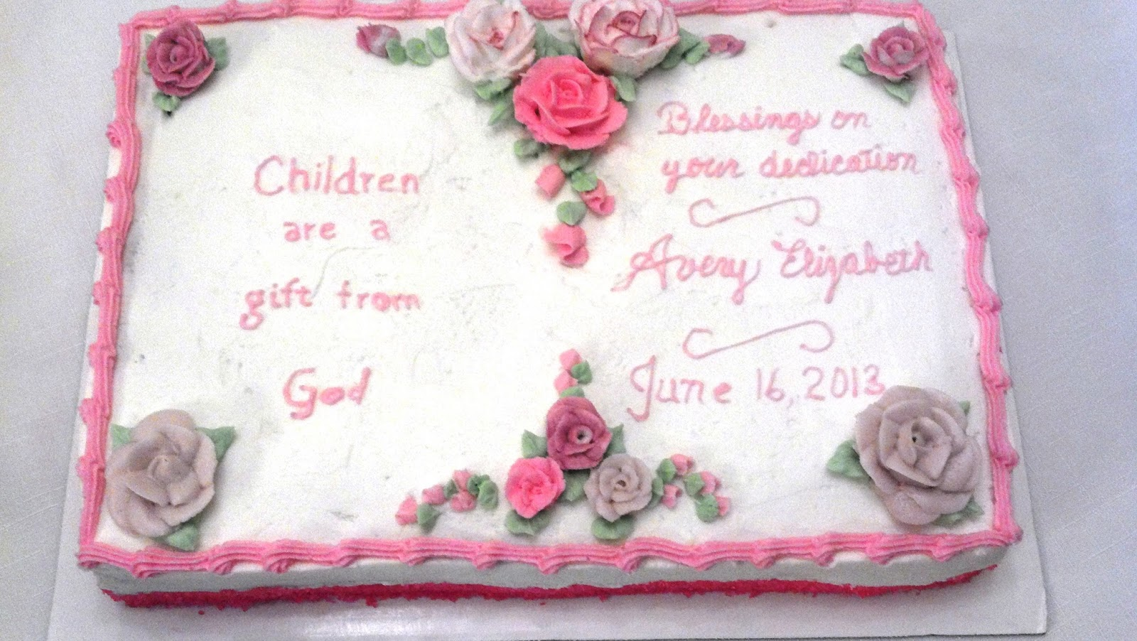 Cake Designs For Baby Dedication : Custom Cakes: Baby shower/dedication