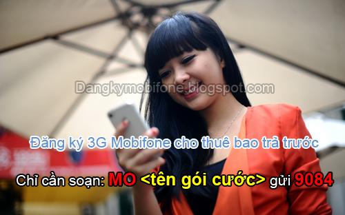 Đăng ký 3G Mobifone trả trước