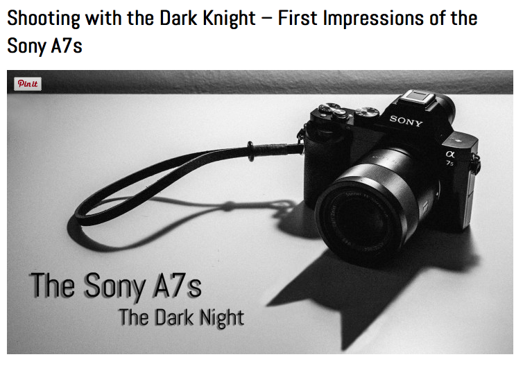 Review of the Sony A7s