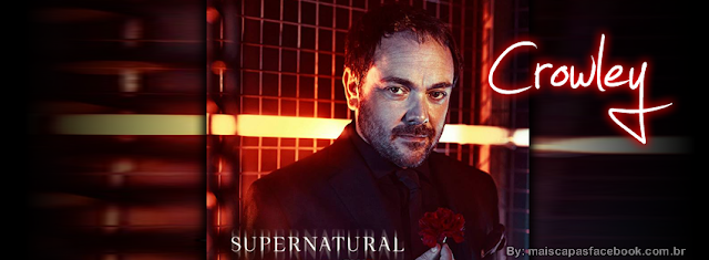 Capa para Facebook Crowley - Supernatural