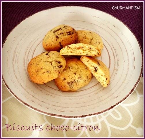 image Cookies au chocolat et au citron