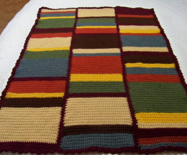 The Crochet Cabana Blog: Doctor Who baby afghan 1