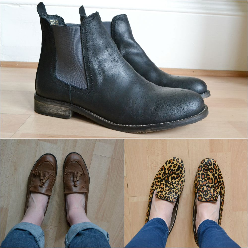 loafers tan leopard chelsea boots slippers M&S TK Maxx