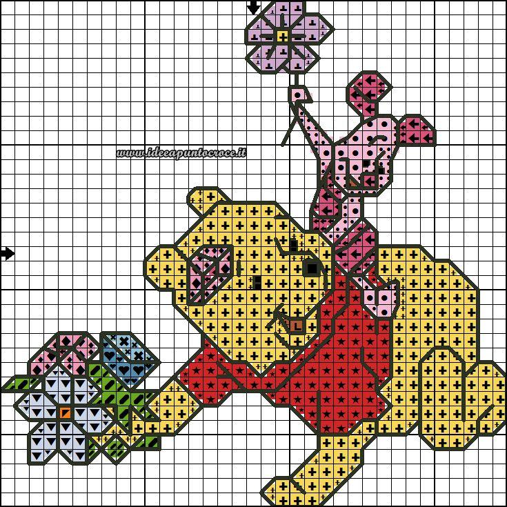 Schemi disney a punto croce schemi winnie the pooh for Winnie the pooh punto croce