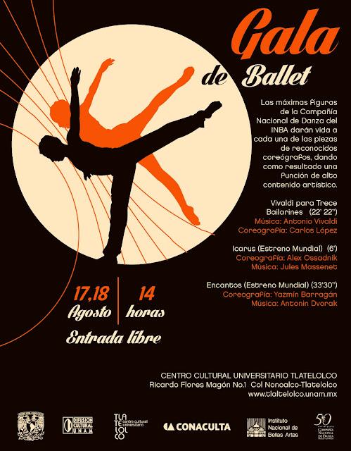 La Compañía Nacional de Danza presenta gala de ballet en Tlatelolco