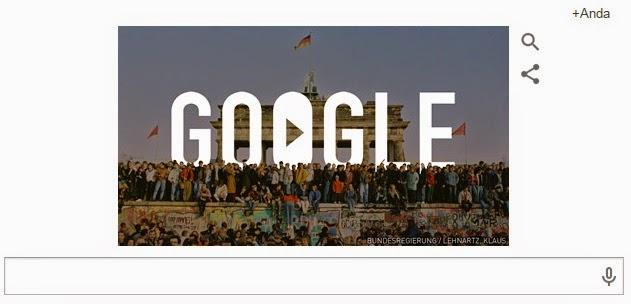 Google Doodle Hari Ini: Memperingati 25 Tahun Runtuhnya Tembok Berlin 9 Oktober 2014