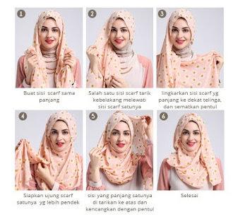 Aneka Gambar Tutorial Cara Pakai Hijab Modern Dan Modis Terbaru