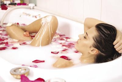 How to bath milk bath