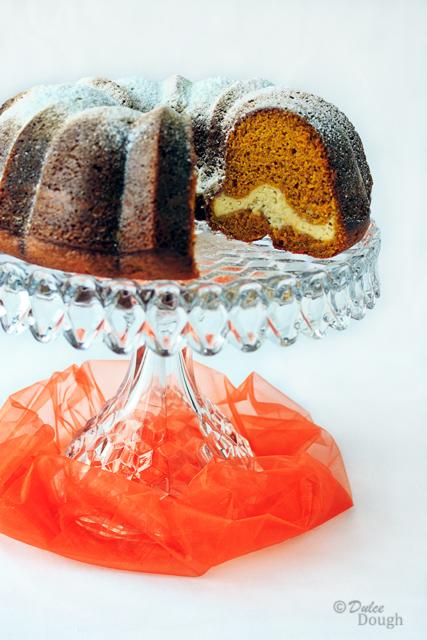 Pumpkin Cream Cheese Bundt Cake | Dulce Dough Recipes