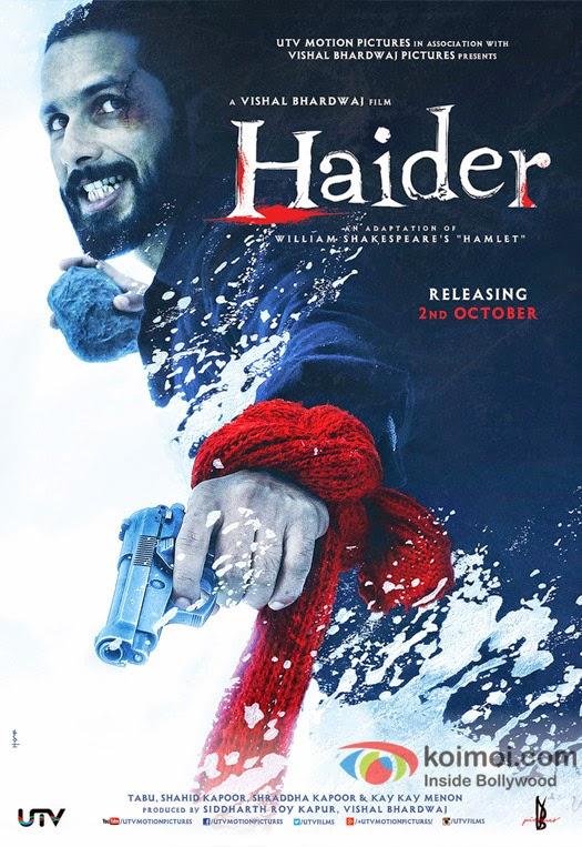 Haider 2014 Hindi 720p BluRay 1.25GB AC3 5.1 ESub