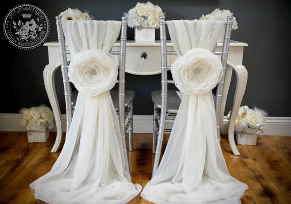 Bliss Extraordinary Floral Gorgeous Bride and Groom Chair