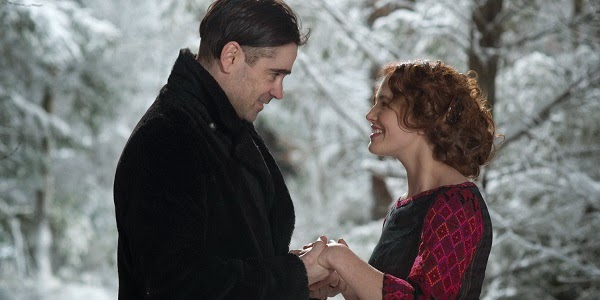 Colin Farrell e Jessica Brown Findlay em UM CONTO DO DESTINO (Winter's Tale)
