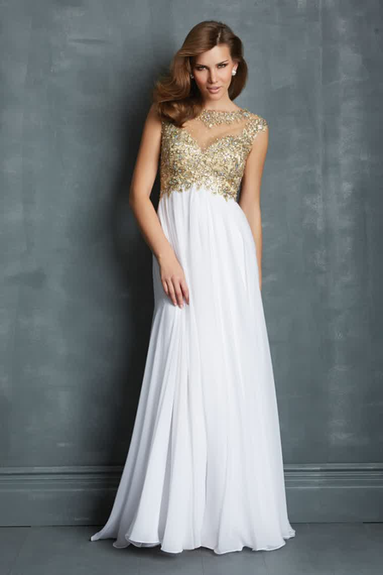 Gold And White Prom Dresses Photo Album - The Fashions Of Paradise