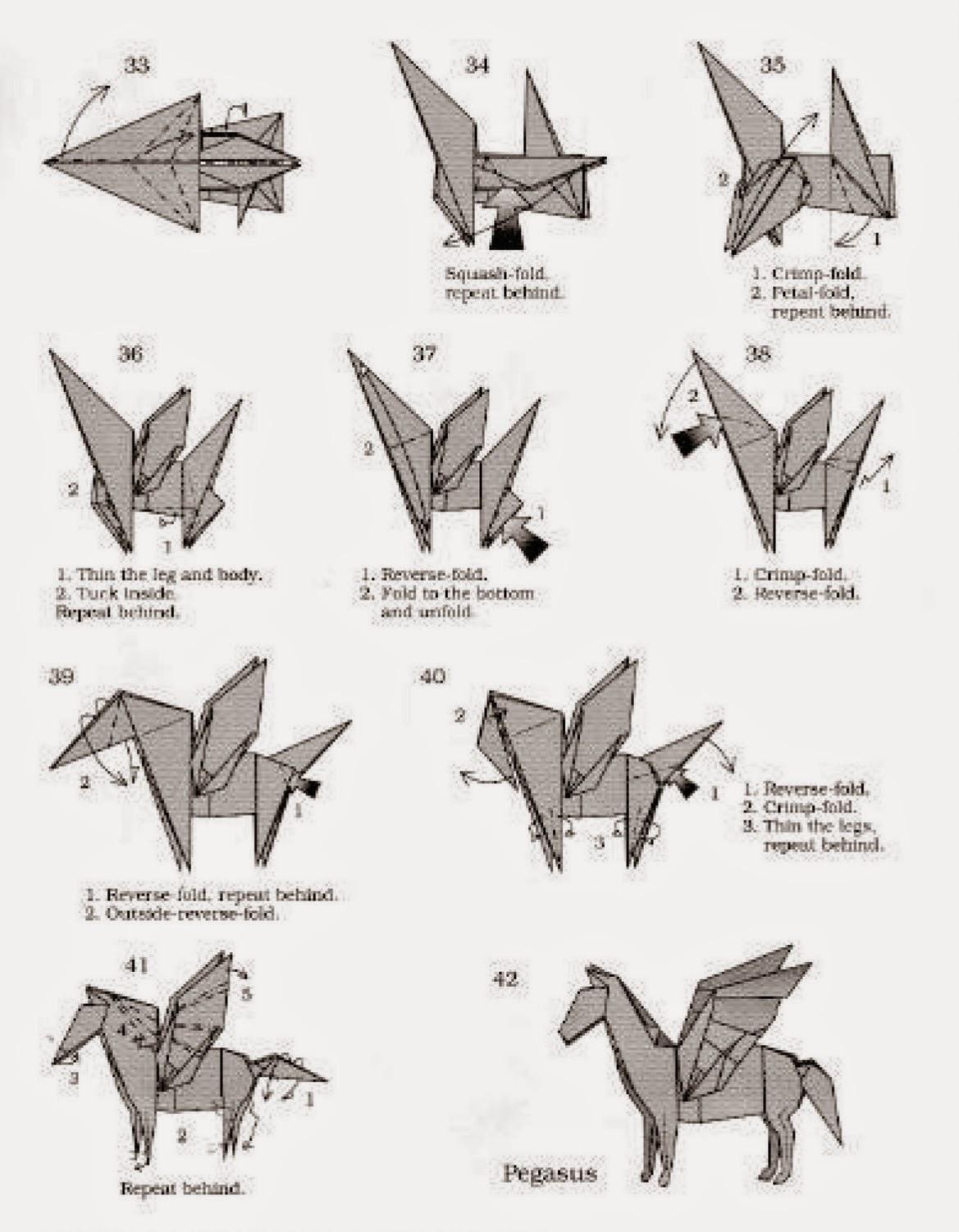 Make Origami Pegasus Origami Instructions Art And Craft Ideas