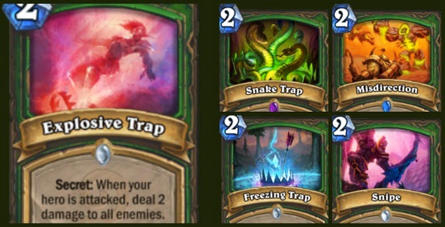 Hunter Trap Cards in Hearthstone