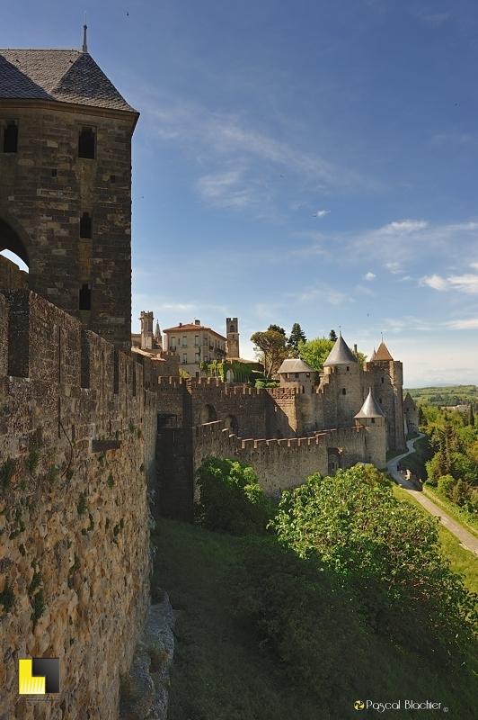 les remparts de Carcassonne photographie Blachier Pascal