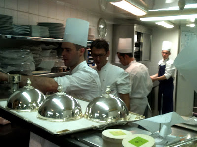 Laurent Jeannin at the Bristol Hotel. With his team