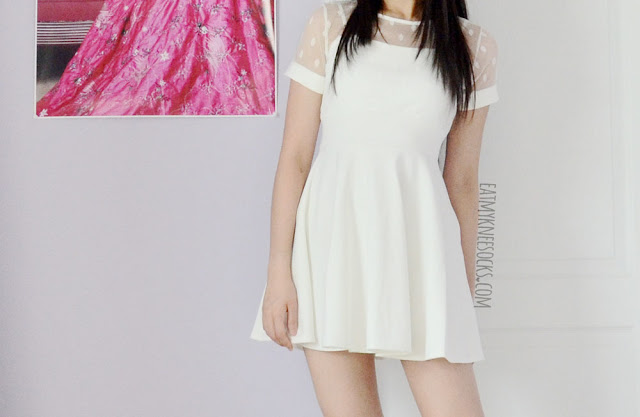 Yumart sells tons of cute Asian fashion, like this white mesh dress from Tokyo Fashion Qme.