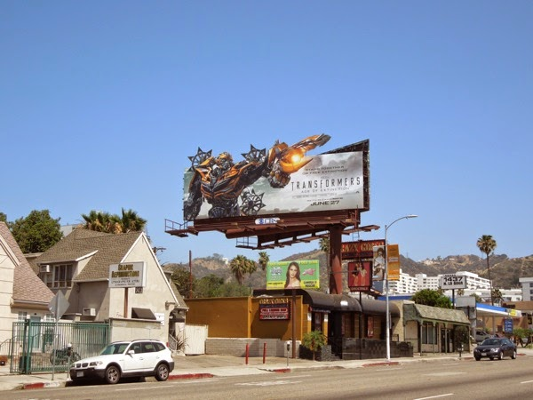 Transformers Age of Extinction Bumblebee billboard