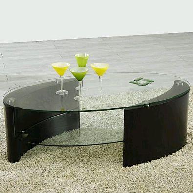 Mesas de centro modernas color negro - Mesas de vidrio modernas ...