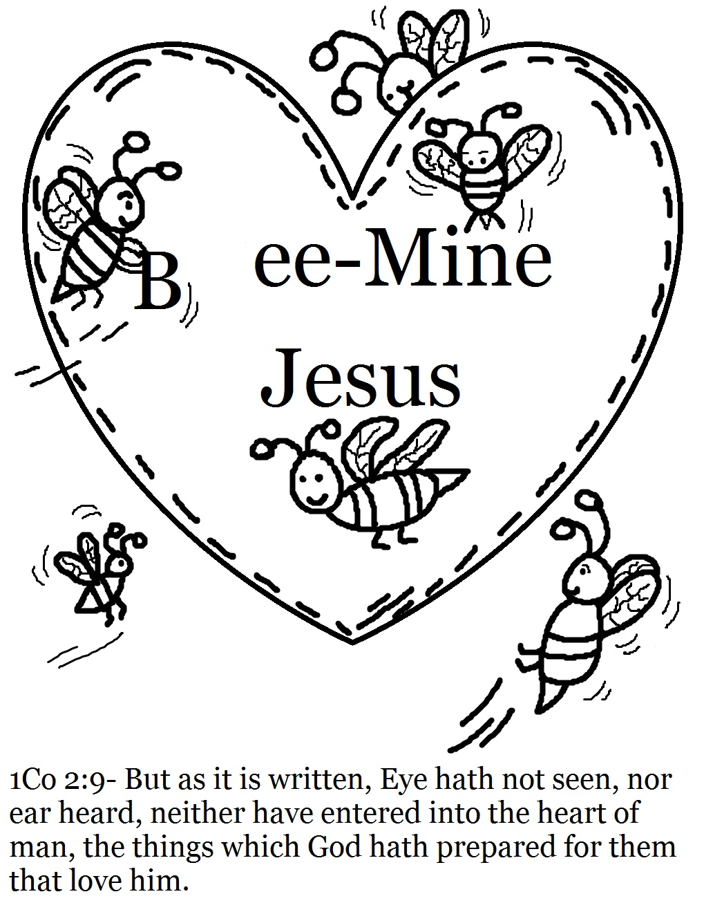 jesus valentine coloring pages - photo#9