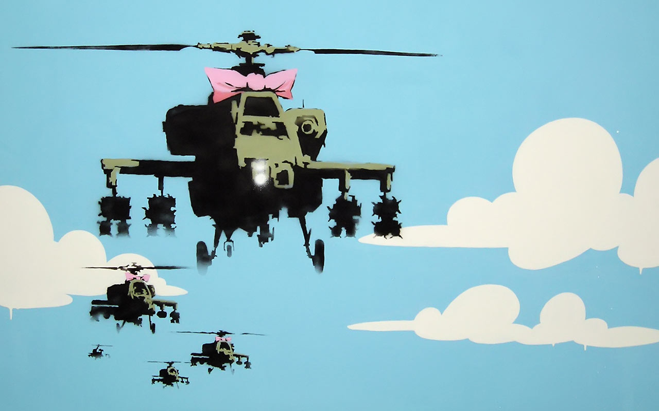 http://1.bp.blogspot.com/-1D_7CzI4m44/TbHiwHGBLJI/AAAAAAAAAB0/KxGNAPhAuwo/s1600/01-banksy-wallpaper-helicopters.jpg