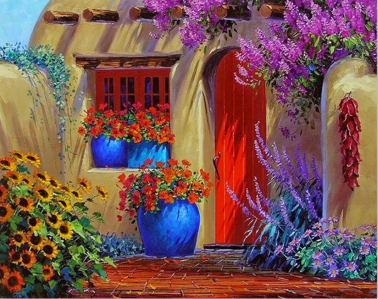 Cuadros modernos pinturas y dibujos imagenes de flores - Cuadros de pintura ...
