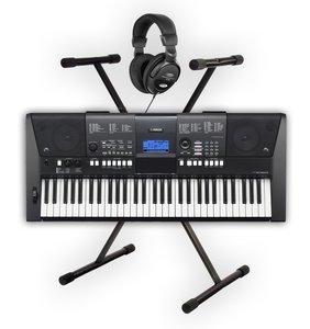 yamaha psr e423 keyboard set with stand and headphones. Black Bedroom Furniture Sets. Home Design Ideas