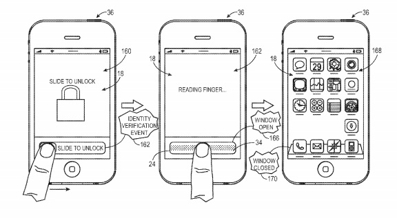 Apple Patented Fingerprint Sensor for iPhone