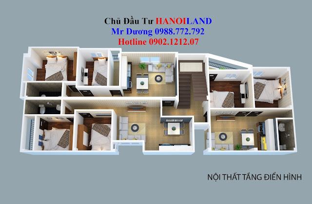 Thiết kế căn hộ tầng 2 - 6 của tòa chung cư mini Nhật Tảo 7, Đông Ngạc, Bắc Từ Liêm, Hà Nội