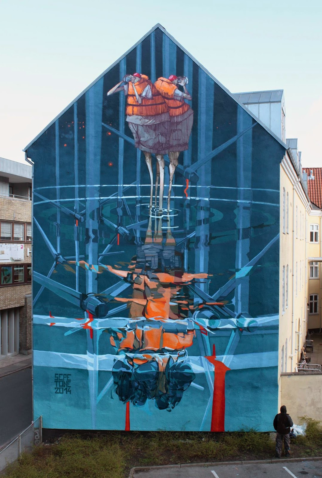 "While we last heard from him last Summer with Chazme in Slovakia (covered), Robert ""Tone"" Proch is now in Denmark where he teamed up with Sepe to work on this new piece somewhere on the streets of Aalborg."