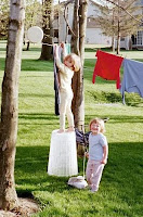 airdrying, clotheslines