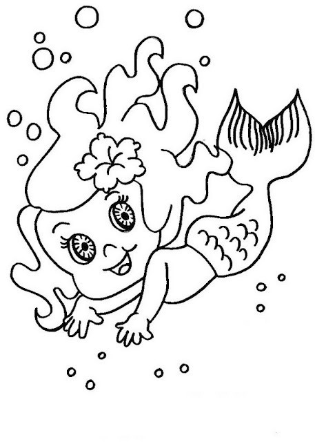 Desenho Folclore Iara para colorir