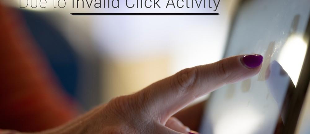 AdSense invalid click report
