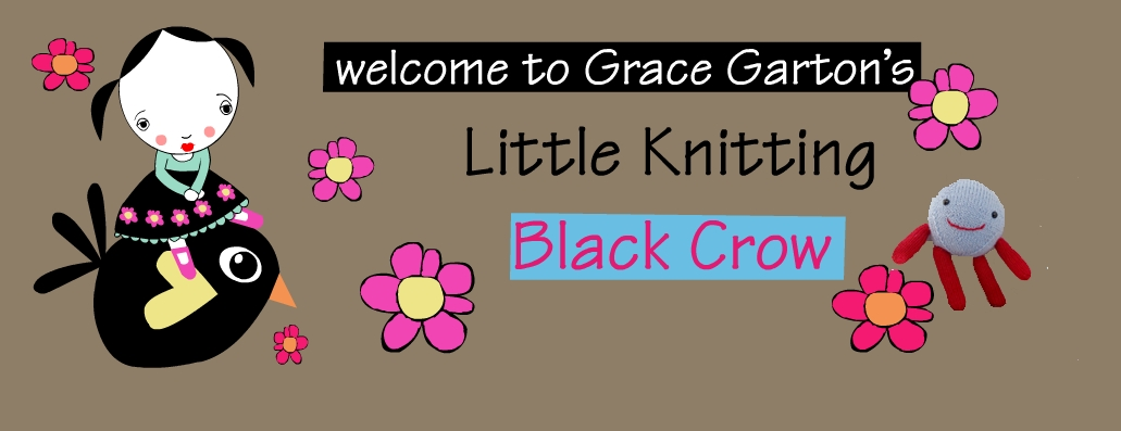 Little Knitting Black Crow, by Grace Garton