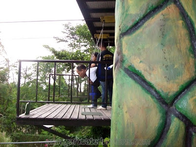 Sky Safari zipline at Zoobic