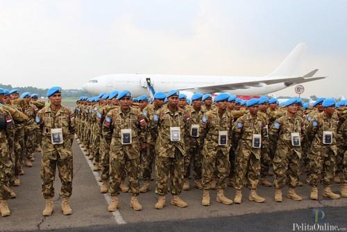 Satgas Konga XXIII-G/UNIFIL Terima Kunjungan tim ORI Pimpinan Sergiy Mazurov