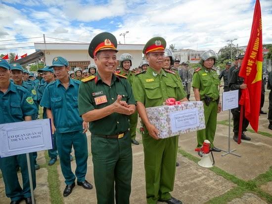 Thị xã An Nhơn tổ chức diễn tập khu vực phòng thủ năm 2014