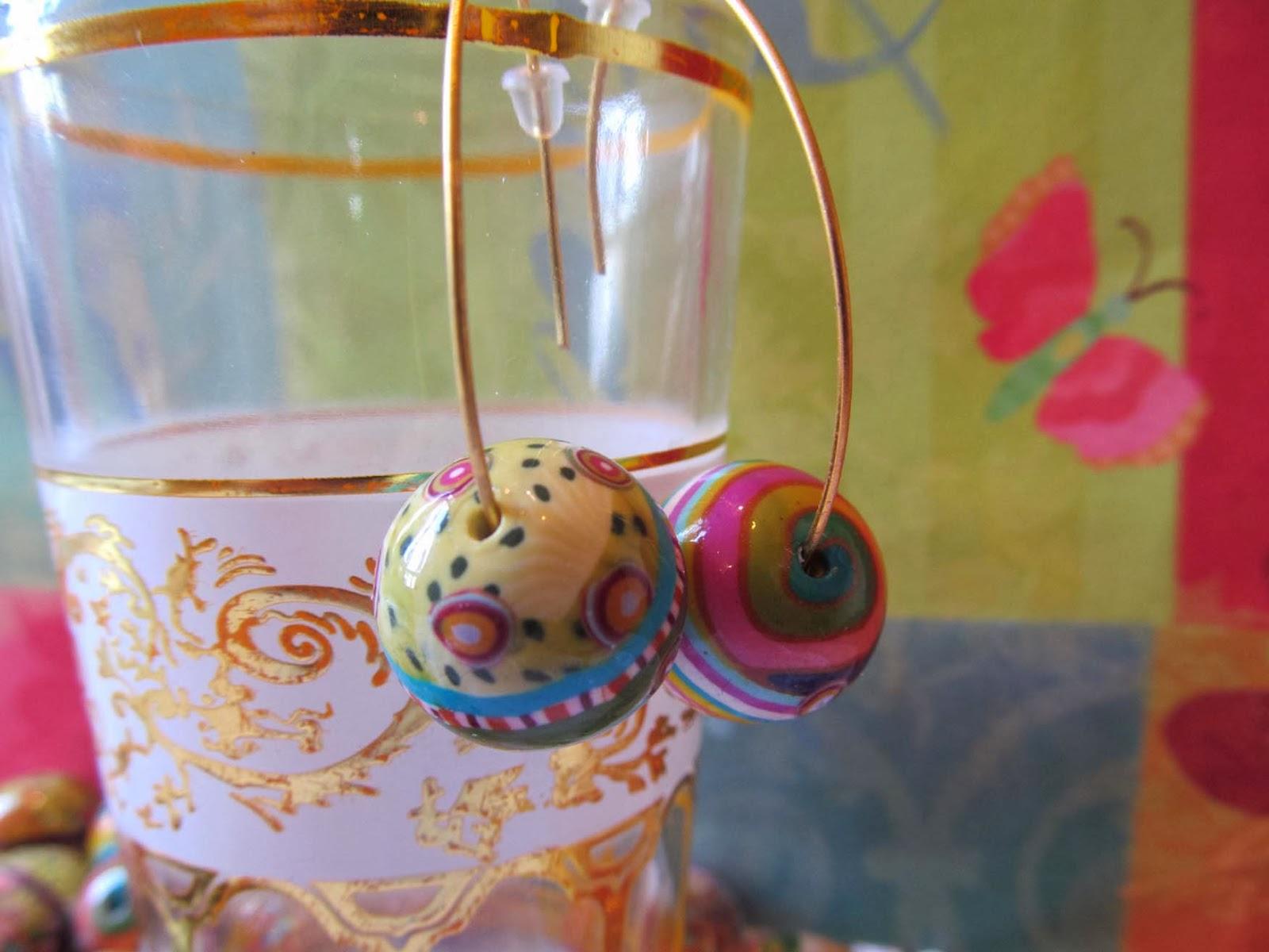 חימר פולימרי, חרוזי פימו,חרוזי חימר פולימרי,גלילי פימו,גלילי חימר פולימרי fimo beads,polymer clay beads,עגילי פימו,fimo earring,polymer clay earring,