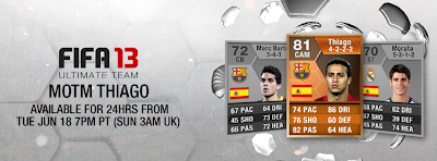 FUT 13 Orange MOTM Thiago Alcântara (81) - FIFA 13 Ultimate Team