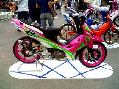 Gambar Modifikasi Suzuki Shogun Air Brush